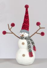 33cm Plush Snowman with Twiggy arms